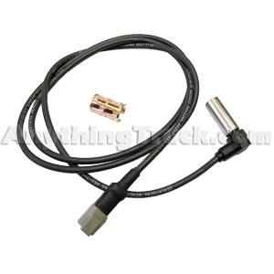 """Bendix 801549 WS-24 Wheel Speed Sensor, 90 Degree, 60"""" Harness, Deutsch DT04-2P Connector"""
