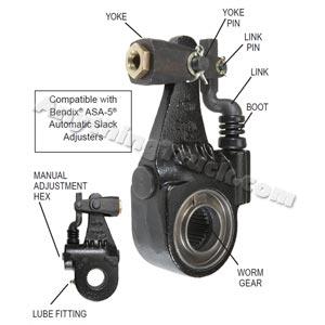 "Bendix K041876 Versajust Automatic Slack Adjuster - 1.50"" 10-Spline, 6"" Span"