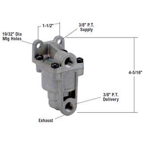 Bendix 289144X LQ-4 Front Axle Ratio Valve, 4 PSI Hold Off Pressure, 60 PSI Equalizing Pressure