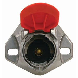 Haldex BE23101 1-Way Single Pole Receptacle, 300 amp Capacity, For Tailgates