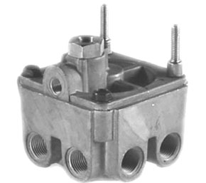 Haldex KN28055 Relay Valve - 4 Delivery Ports, Anti-Compounding, and Dual Crack Pressures