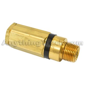 """Haldex KN31171 Pressure Protection Valve with One-Way Check Valve, 3/8"""" NPT Inlet, 1/2"""" NPT Outlet"""