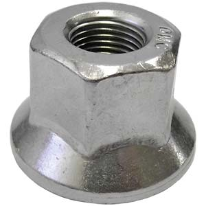 "5/8""-18 Flanged Wheel Nut, Right-Hand Thread"