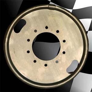 "Centramatic 400-423 19.5"" Dual Rear Wheel Automatic Balancers - 1 Pair, 10 Hole, 8.75"" Bolt Circle"
