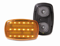 Amber LED 2 Function Safety Light with Magnet Mount