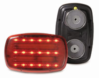 Red LED 2 Function Safety Light with Magnet Mount