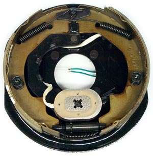 """10"""" x 2.25"""" LH Electric Brake Assembly with 4 Bolt Backing Plate for Dexter Axles"""