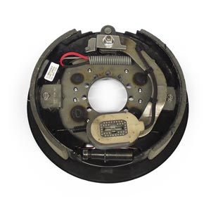 """12-1/4"""" x 2-1/2"""" 7.2K RH Electric Brake Assy, 9-Hole Stamped Backing Plate for Dexter Pre 05/2000"""