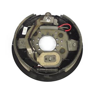 """12-1/4"""" x 2-1/2"""" 7.2K LH Electric Brake Assy, 9-Hole Stamped Backing Plate for Dexter Pre 05/2000"""