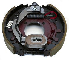 """12-1/4"""" x 2-1/2"""" 7.2K LH Electric Brake Assy with 4 Bolt Backing Plate for Dexter Axles"""