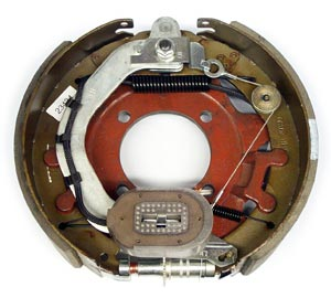 """12-1/4"""" x 3-3/8"""" 8K FSA LH Electric Brake Assy with 4 Bolt Backing Plate for Dexter Axles"""