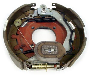 """12-1/4"""" x 3-3/8"""" 8K FSA RH Electric Brake Assy with 4 Bolt Backing Plate for Dexter Axles"""