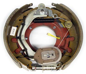 """12-1/4"""" x 4"""" 10K HD FSA LH Electric Brake Assy with 7 Bolt Backing Plate for Dexter Axles"""