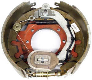"""12-1/4"""" x 5"""" 15K FSA RH Electric Brake Assy with 7 Bolt Cast Backing Plate for Dexter Axles"""