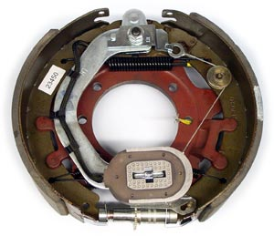 """12-1/4"""" x 3-3/8"""" 9K-10K FSA LH Electric Brake Assy with 7 Bolt Backing Plate for Dexter Axles"""
