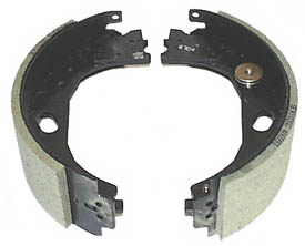 """12-1/4"""" x 3-3/8"""" LH Electric Brake Shoes for Stamped Steel Backing Plate (Before April 2000)"""