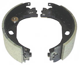 """12-1/4"""" x 3-3/8"""" RH Electric Brake Shoes for Stamped Steel Backing Plate (Before April 2000)"""