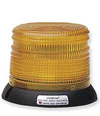 Federal Signal 251120-02 Short UltraStar Amber Strobe Beacon Permanent/Pipe Mount - 12-24 VDC