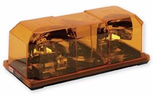 Permanent Mount Federal Signal Amber Highlighter Mini Lightbar - 12 VDC