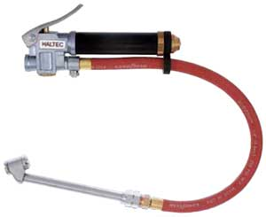 """Tire Inflating Gauge with 12"""" Hose and Dual Foot Air Chuck"""