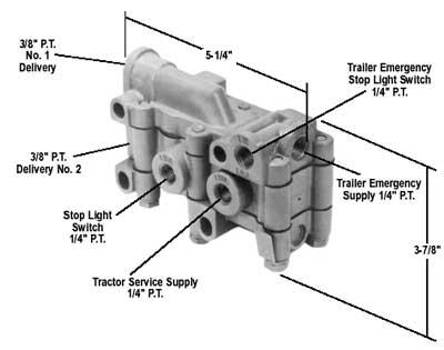 Bendix 288301X TP-4 Tractor Protection Valve