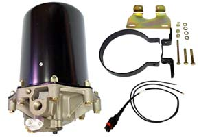 Aftermarket 24-Volt AD-9 Air Dryer with Mounting Bracket and Wire Harness