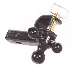 """6-Way Multi-Hitch Convert-A-Ball Cushioned Ball Mount, 10K GTW/2,000 TW for 2"""" Receivers"""