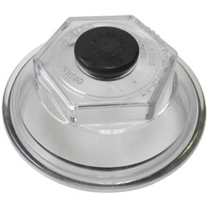 Screw-On Hub Cap with O-Ring and Plug for Dexter 10K, 12K, 15K, and 13D Hubs