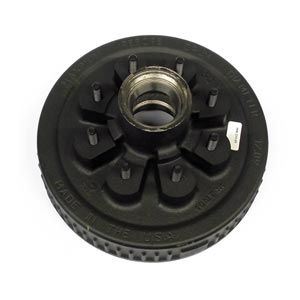 """Hub/Drum for Dexter 5.5K-7K Axles, with Bearing Cups and Wheel Studs, 1/2"""" Studs, Oil"""
