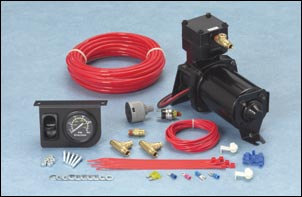 Heavy Duty Air Compressor Kit - Inflates Both Air Springs Equally