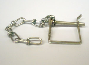 """Buyers Products P11C 1/4"""" Safety Clip with 8"""" Chain for RM and BH8 Series Pintle Hooks"""