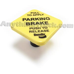 "Bendix 248433N Button For  Push/Pull Valves, Pin-Type, 3/8"" Shaft, 1-3/4"" Square, Parking Brake"