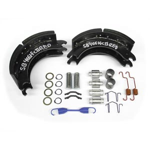 "12-1/4"" x 5"" Quick Change Brake Shoe Kit, Includes Two Shoes and Hardware"