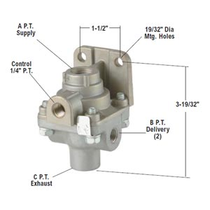 Bendix 229505X LQ-2 Limiting/Quick Release Valve