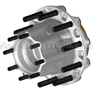 ConMet 10001472 Aluminum Drive Hub, Steel Wheels, 592A/572 Bearings