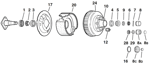 commercial trailer wheel hub diagram