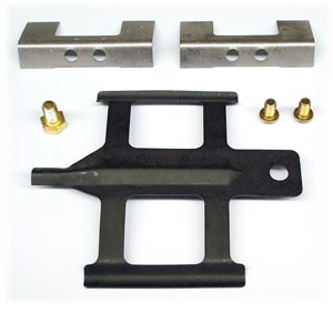 Disc Brake Caliper Hardware Kit (Does One Brake Caliper), Use with MD769 Pad Kit