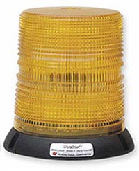 Federal Signal 250121-02 Tall UltraStar Amber Strobe Beacon Permanent/Pipe Mount - 12-24 VDC