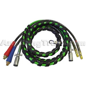 PTP 123WAY 12' 3-Way Air Brake Hose and ABS Cable Assy
