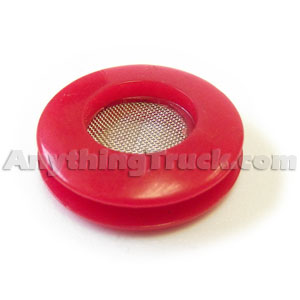 Red Polyurethane Air Brake Gladhand Seal with Protective Screen