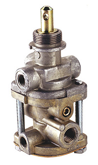 PTP 288239 PP-7 Push/Pull Trailer Supply Valve - Unthreaded Exhaust Port, 40 PSI Release