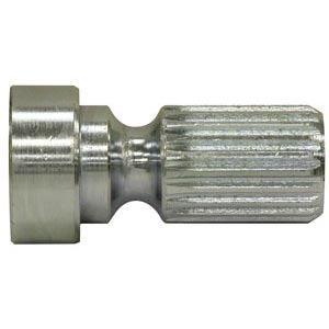 "Buyers Products 3001895 Roll Tarp Universal Joint Male Stub Shaft, 21 Spline x 1-13/16"", Zinc Plated"