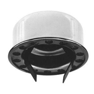 "Buyers Products BECO61A Push-In Type Breather Cap for 1-1/2"" OD Tube, Chrome"