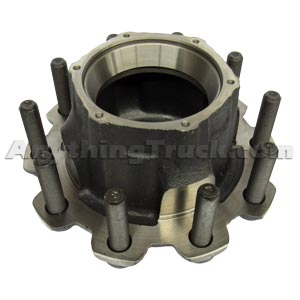 PTP HT716RC Trailer Hub, Outboard Mount, HM518410 Bearings, Studs for Steel Wheels