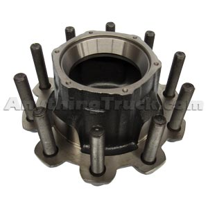 PTP HT716RD Trailer Hub, Outboard Mount, HM518410 Bearings, Studs for Aluminum Wheels