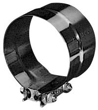 "PTP 9624 5"" Stainless Steel Preformed Lap Joint Exhaust Clamp"