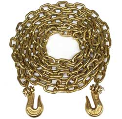 "1/2"" x 20 ft. Grade 70 Transport Chain with Clevis Grab Hooks"