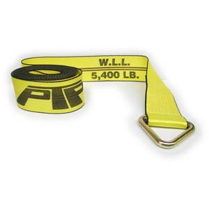 "4"" x 30 ft. Winch Strap with Delta Ring, 5,400 lbs. Working Load Limit"