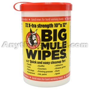 Mule Head Big Mule Wipes, 72 Count Dispenser
