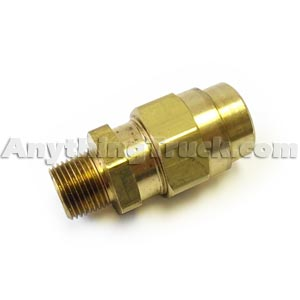 "1/2"" NPT Hose Connector for 3/4"" OD x 3/8"" ID Rubber Air Brake Hose"